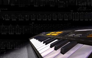 3d keyboard music synthesizer wide