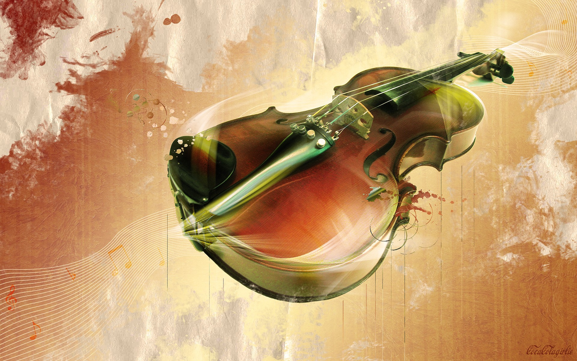 Abstract Unplayed Violin Wallpaper 1920x1200 px