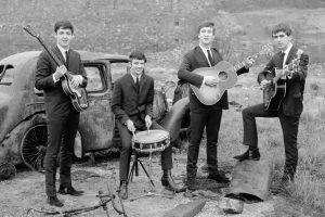 Beatles And Old Car