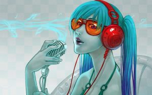 Blue Girl Singing
