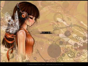 Echo Girl And Butterfly