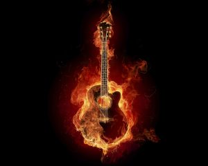 Fire Flame Guitar