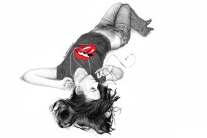 Girl And Rolling Stones