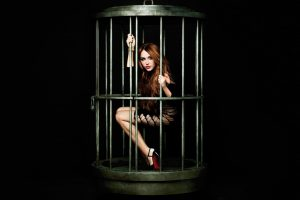 Miley Cyrus In Cage