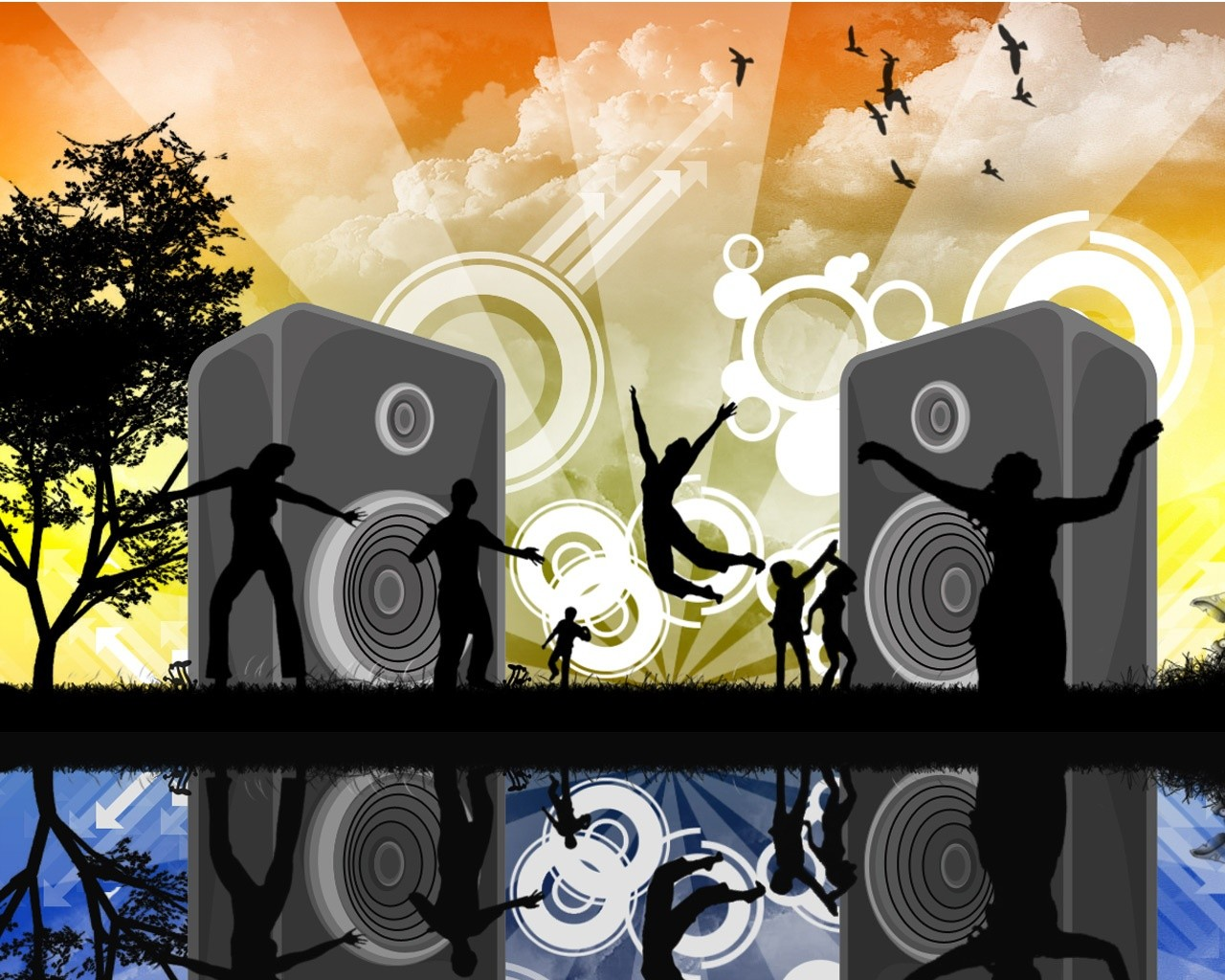 Rave Party – Abstract Wallpaper 1280x1024 px