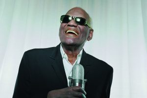 Ray Charles Musician Microphone Smiling