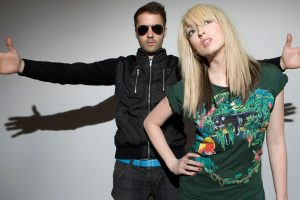 The Ting Tings Glasses Hands Blonde Girl