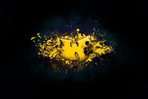 Yellow Wu Tang Clan Logo