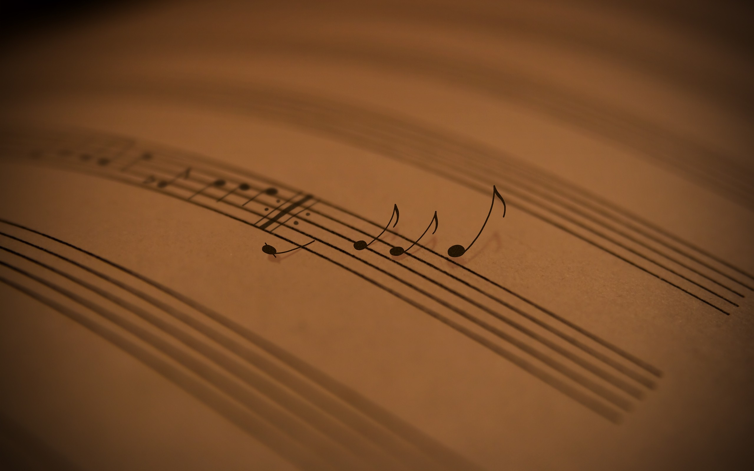 Music Paper Notes Wallpaper 2560x1600 px